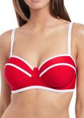 Freya Swim Paint The Town Bikini Overdel Bandeau B-I skål rød