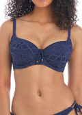Freya Swim Sundance vadderad bikiniöverdel D-L kupa blå