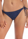 Freya Swim Sundance bikiniunderdel med sidknytning XS-XL blå