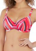 Freya Swim Bali Bay bikiniöverdel plunge D-L kupa mönstrad