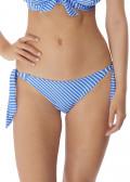 Freya Swim Beach Hut bikiniunderdel med sideknytning XS-XL blå