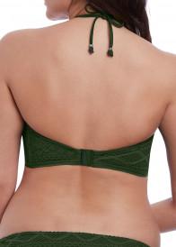 Freya Swim Sundance virkad vadderad bikinitopp D-I kupa grön