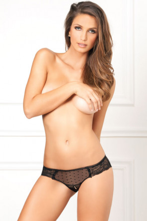 Crotchless Lace n' Dots Panty