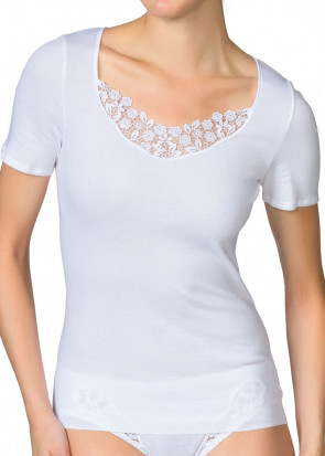 Calida Feminin Sense short-sleeve top XS-XL hvid