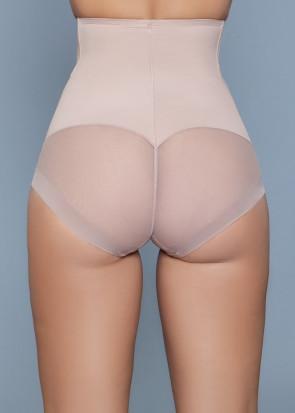 BeWicked Peachy Soft shapingtrosa med hög midja S/M - L/XL beige
