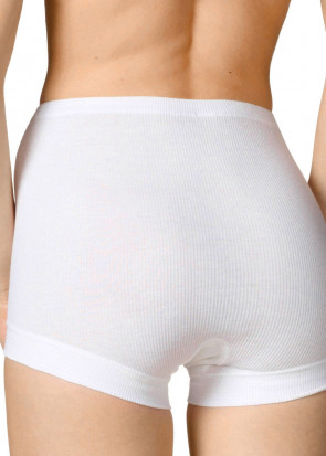 Calida Cotton 2:2 high-waist shortleg 38-48 hvid
