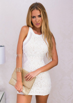Xenia higher love bodycon dress XS-L hvid