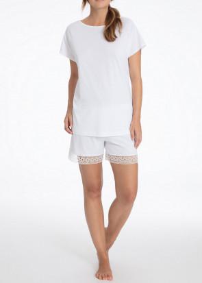Calida Rena Kort Pyjamas XXS-M Hvid