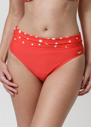 Abecita Pompom Bikini trusse med Foldbar kant 36-48 Rød