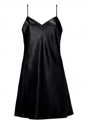 Damella nattlinne silke XS-XL svart