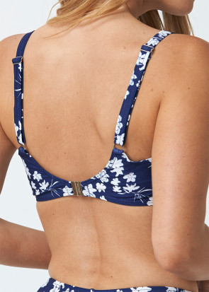 Abecita Blue Flower Bikini Overdel B-F Skål Navy