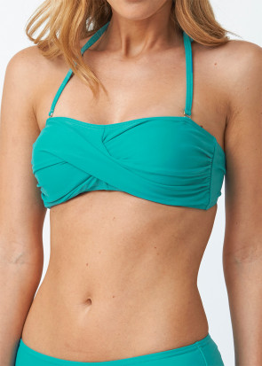 Abecita Alanya Bandeau Bikini Top A/B-C/D skål Grøn