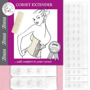 Braza Corset Extender hvid - One Size