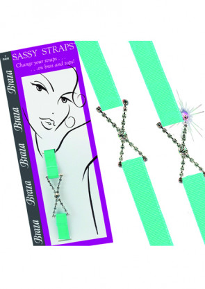 Braza Sassy straps Rhinestone X BH stropper turkis