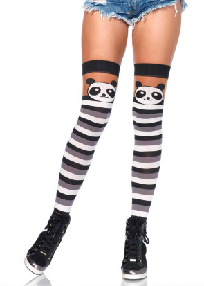 Panda Striped Thigh Highs