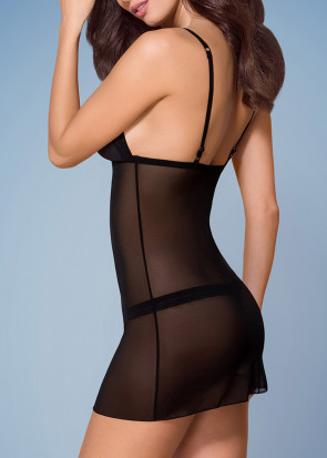 Mesh Chemise and String-trusse Sæt