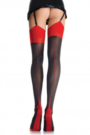 Opaque Two Tone Stockings