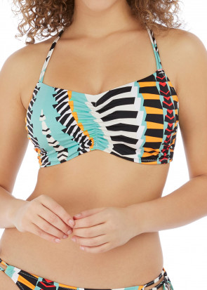 Freya Swim Bassline bikiniöverdel bralette D-I kupa mönstrad