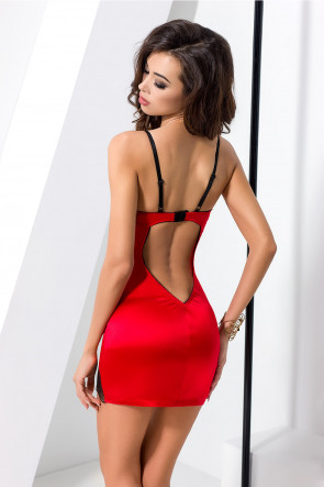 Brida - Chemise & Thong Red