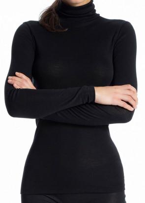 Calida True Confidence langærmet polotrøje XS - L sort