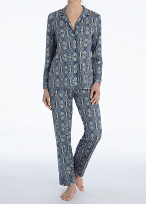 Calida Noee pyjamas XS - L mönstrad blå