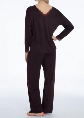 Calida Raissa pyjamas XXS - M mörkröd
