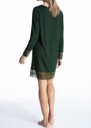 Calida Cosy Glam langørmet pyjamas-skjorte XXS-L mørkegrøn