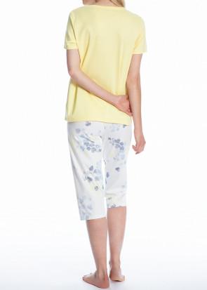 Calida Cosy Blossom 3/4 pyjamas S-L mønstret