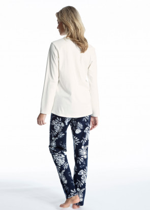 Calida Soft Flowers pyjamas XS-XL mönstrad