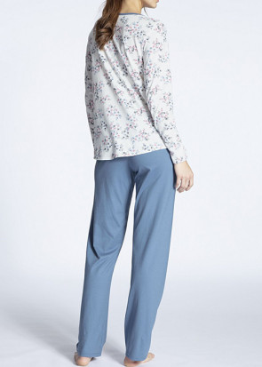 Calida Cosy Jersey Fun pyjamas XS-L blå
