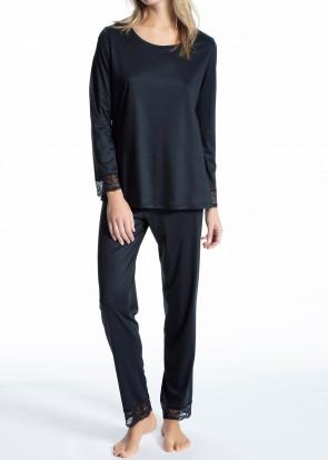 Calida Cosy Bamboo pyjamas XXS-M mørkeblå