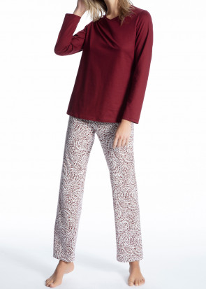 Calida Cosy Cotton Trend pyjamas XS-L röd