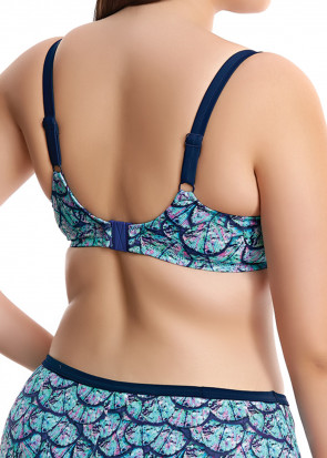 Elomi Swim Abalone Bikini Top E-M Skål Mønstrede