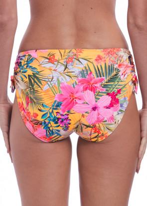 Fantasie Swim Anguilla justerbar bikiniunderdel S-XXL mönstrad gul