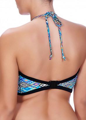 Freya Swim Folklore bandeau bikini top B-I skål mønstret