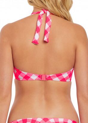 Freya Swim Totally Check Banded Halter Bikinitopp C-K kupa röd