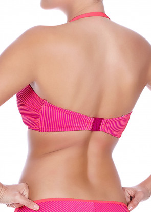 Freya Swim Horizon Twist Front bandeau Bikinitop C-I skål lyserød