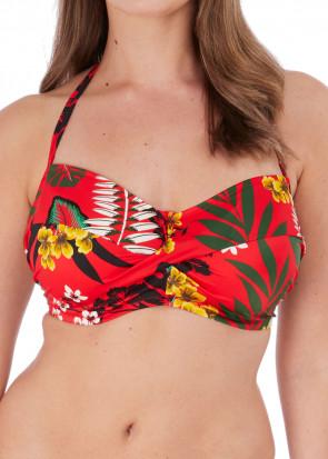 Fantasie Swim Vilamoura bikiniöverdel bandeau D-I-kupa mönstrad