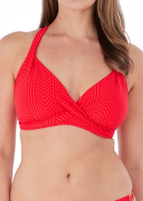 Fantasie Swim Long Island bikiniöverdel plunge D-I-kupa röd