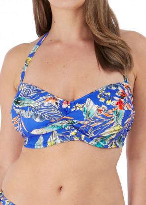 Fantasie Swim Burano bikiniöverdel bandeau D-I-kupa mönstrad
