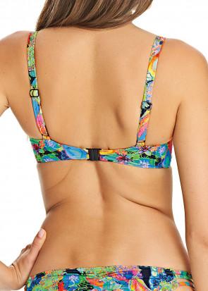 Freya Island Girl Plunge bikini top D-L skål mønstret