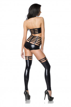 Saresia Strappy Wet look Set XS-L