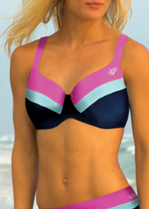 Salming Color Block bikiniöverdel med bygel B-D kupa mönstrad